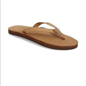 Thins strap rainbow flip flops